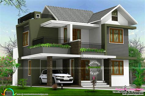 1st floor veranda design 4bhk floor plan and elevation in 5 cent kerala home
