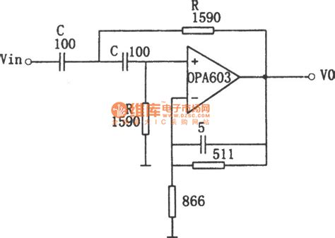 high pass filter diagram the circuit diagram of 1 mhz high pass filter consists of opa603 temperature control