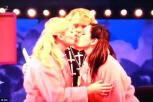 celebrity juice how many series kelly brook kisses holly willoughby on the lips as she