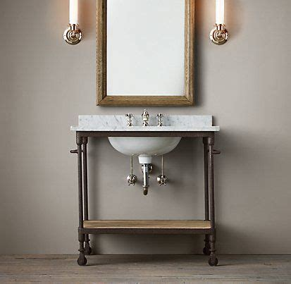 Industrial Bathroom Vanities by Vanities Sinks Restoration Hardware Industrial