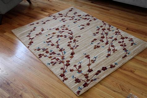 Cheap 5x7 Area Rugs by 1025 Ivory Beige Blue Branches Vine 5x7 8x10 Area Rugs