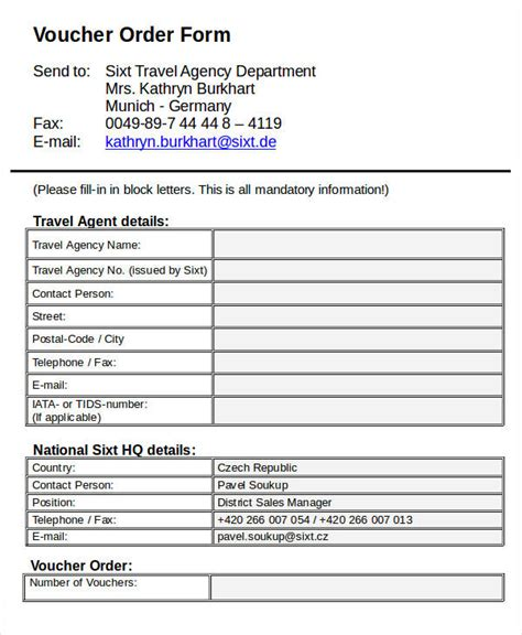 travel agency forms templates 7 travel order forms free word pdf format