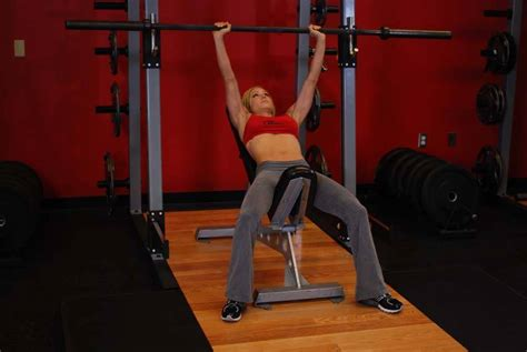 shoulder pain incline bench barbell incline shoulder raise exercise guide and video