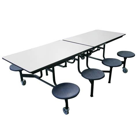 Cafeteria Tables With Stools by Amtab Mobile Stool Cafeteria Table 8 Stools 8 L