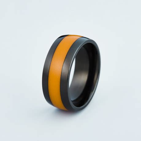 Cincin Black Line Ring 10 band of glow glowing resin rings touch of modern