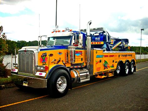 peterbilt tow truck seen at the 2010 u s diesel