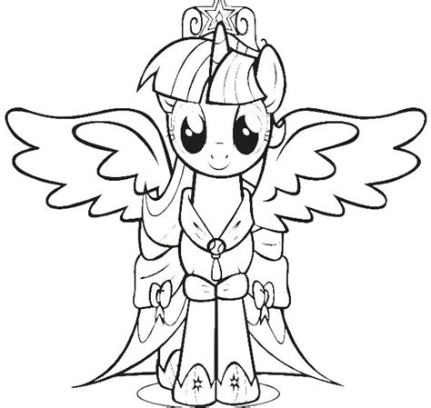 my little pony twilight sparkle coloring pages sketch