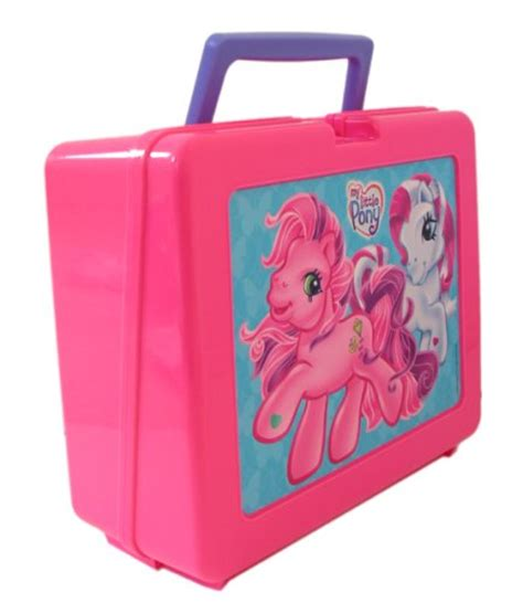 my pony lunch box w carry handle educational