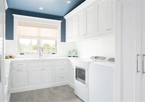 white cabinets laundry room california house designed by brandon architects