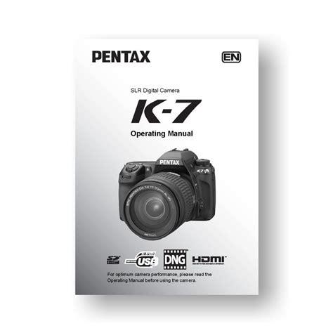 pentax manual pentax k 7 owners manual uscamera downloads