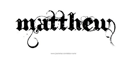 different name tattoo designs matthew name designs it