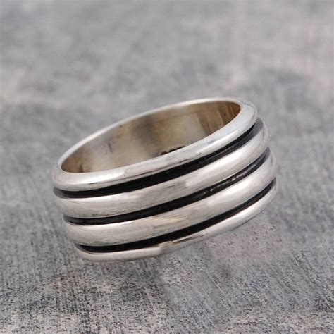 s chunky sterling silver spinning ring by otis jaxon