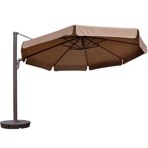 13 Foot Patio Umbrella Island Umbrella 13 Ft Octagonal Cantilever With Valance Patio Umbrella In