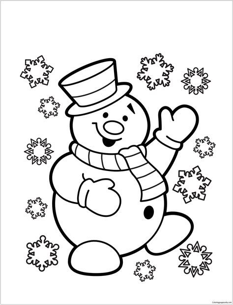 snowman coloring pages snowman 3 coloring page free coloring pages
