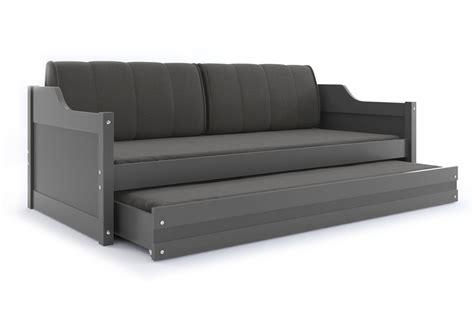 sofabett kaufen sofabett umny grau mit g 228 stebett inkl lattenrost