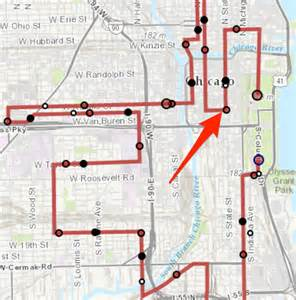 Chicago Marathon Course Map by Parking On Race Day Runner S World Community