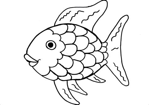 rainbow fish preschool templates sketch coloring page
