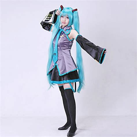 Anime Costumes vocaloid hatsune miku costume without wig