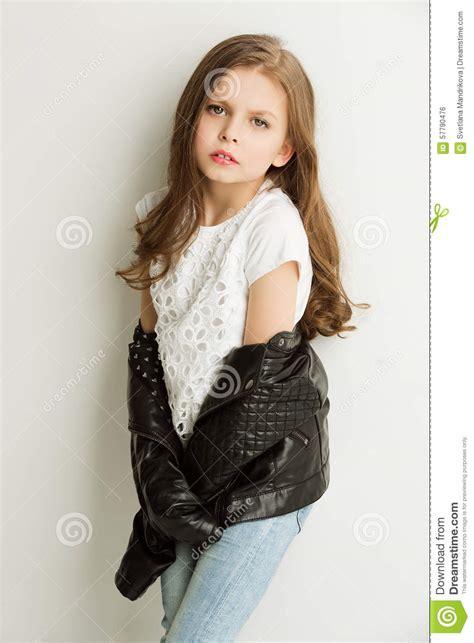 Jo In Black in black leather jacket stock photo image of