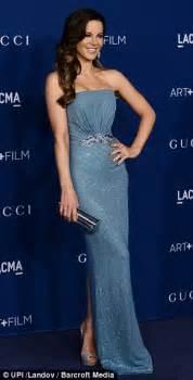Black Crystal Chandelier Earrings Kate Beckinsale Dazzles In Shimmering Blue Mermaid Style