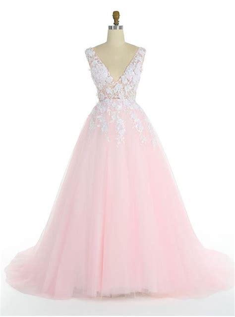 Brautkleider Rosa Spitze by Rosa Hochzeitskleider Mit Spitze V Ausschnitt T 252 Ll