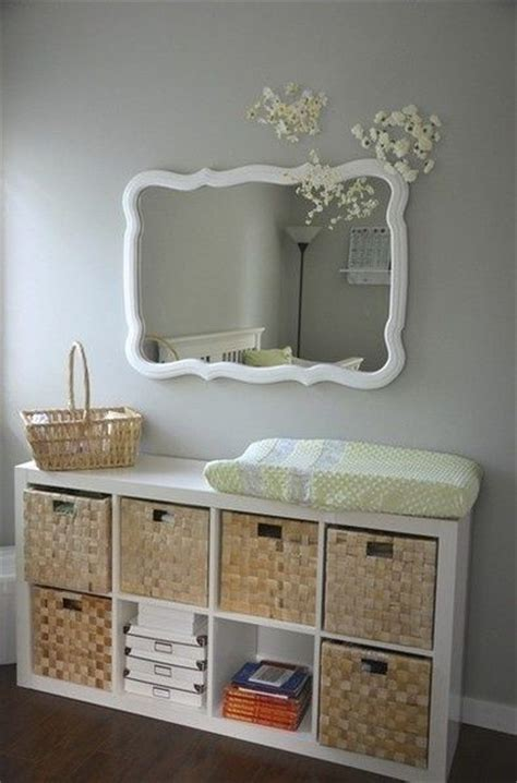 Wicker Baskets For Changing Table Ikea Bookshelf Turned Sideways For Changing Table Idea Diy Progects Pinterest