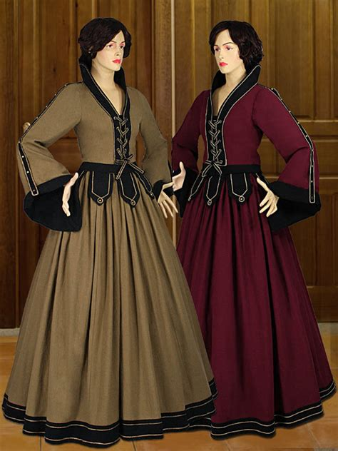 Handmade Renaissance Costumes - costume gown countess 100 cotton