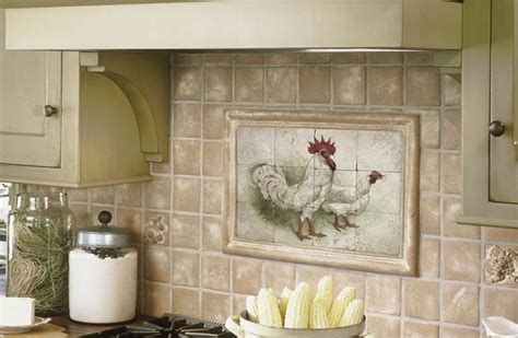cool tile backsplash mural my country kitchen