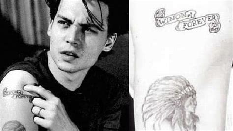 johnny depp winona ryder tattoo what you should never on yourself