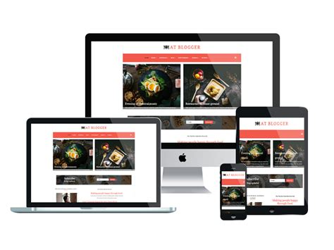 at blogger free responsive joomla blog template