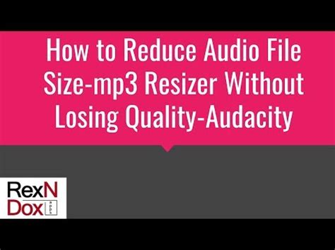 audio format without quality loss how to reduce audio file size mp3 resizer without losing