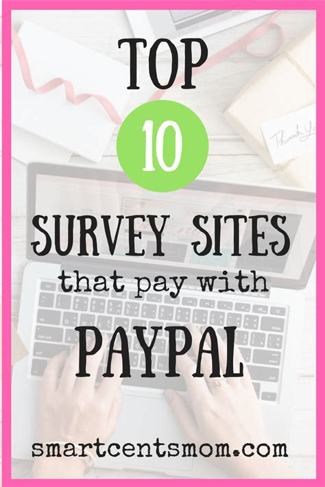 Survey Websites That Pay - smart cents mom 187 blog archive ultimate list of survey sites that pay with paypal