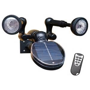 sunforce black solar powered led security light with