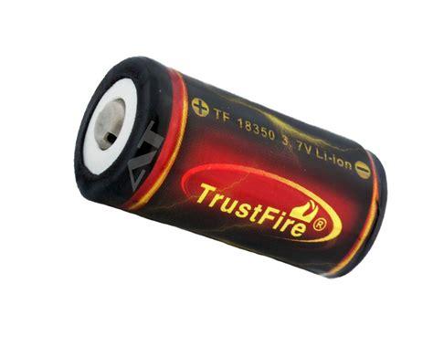 Trustfire 18350 Li Ion Battery 1200mah 3 7v Rechargeable Black 1 trustfire 18350 1200mah 3 7v gesch 252 tzt lithium ionen