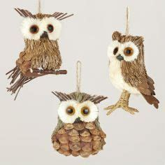 owl creations from pine cones and fluff timber owl ornament corn husks pine cone petals twigs and more woodland