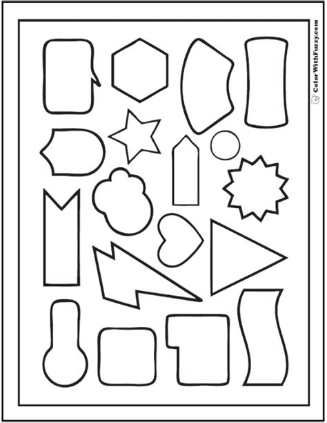 70 Geometric Coloring Pages To Print And Customize Basic Shapes Coloring Pages