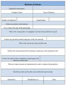 estimate sheets new calendar template site