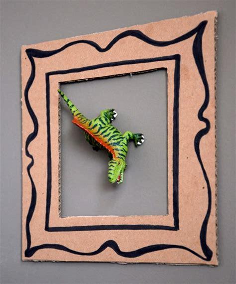 Handmade Cardboard Photo Frames - diy dinosaur frames for handmade