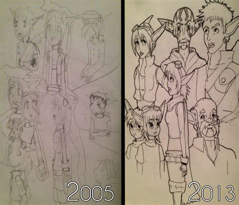 Drawing Now by Drawing Skills Then And Now Jak And Daxter Oc S By