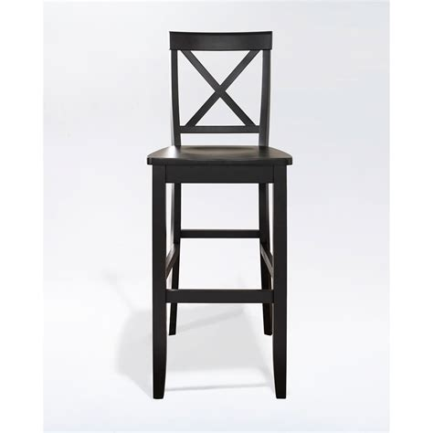 Crosley X Back Bar Stool by Crosley Furniture X Back Bar Stool In Black Finish With 30