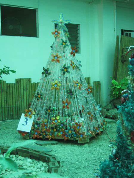 christmas decoration using recycled materials panabo city eco friendly tree clever ideas trees recycled materials