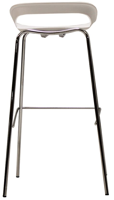 Modern White Bar Stool 34 Quot H Modern White Bar Stool
