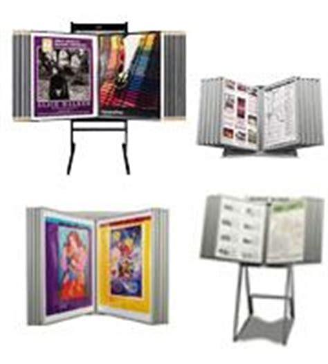 swing panel display poster display racks with multi panels storage movie