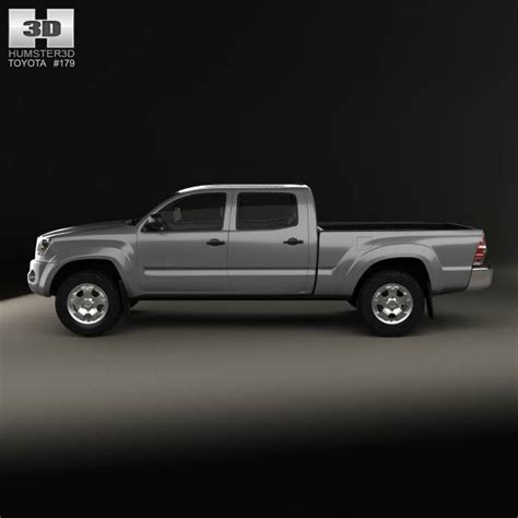 toyota tacoma bed size toyota tacoma double cab long bed 2011 3d model hum3d