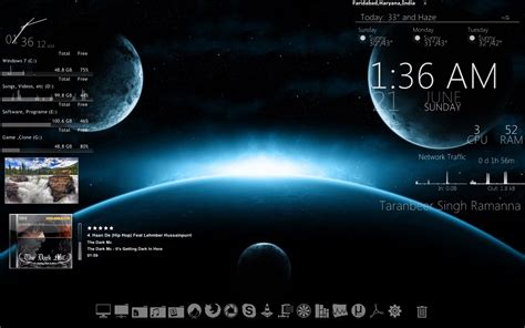 desktop themes exe twinkle softwares rainmeter desktop customization tool 2 4