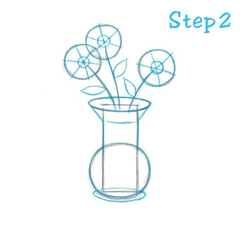 How To Draw Flowers In A Vase by How To Draw A Flower Vase Beginning Sketch2draw
