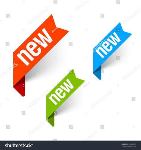 Or New Sign New Vector Stock Vector 104443907
