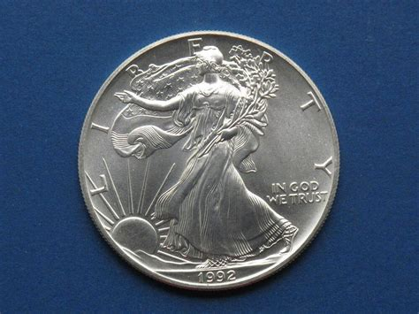 1 oz liberty eagle silver 999 1992 american silver eagle walking liberty coin 1oz 999