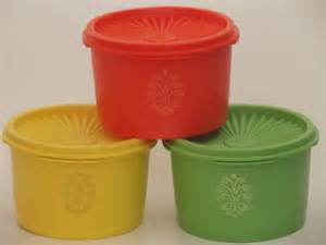 Vintage Retro Kitchen Canisters unused vintage tupperware canister containers green
