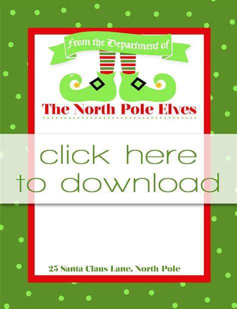 free printable elf on the shelf template best photos of free printable elf templates christmas